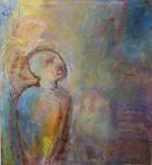 """""""om ensomhet"""" Akrylmaleri 110x120cm  Innkjøpt til Anchol Eco Museum, Jakarta, Indonesia"""