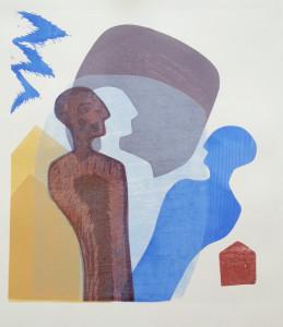 Grete Marstein 4 tresnitt 2014 50x55cm refleksjoner