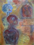 """""""samhold og fremtidstro"""" Akrylmaleri 60x80 cm"""