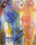 """""""Om å møtes på nettet"""" Akrylmaleri 110x100"""
