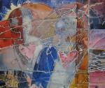 """""""hjertevenner"""" Akrylmaleri 50x60cm"""