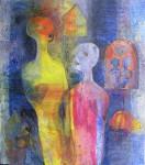 """dialog - et liv"" Akrylmaleri 110x120cm"