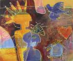 """idemyldring"" akrylmaleri 50x60"