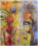 """universelt språk"" Akrylmaleri 110x100cm"
