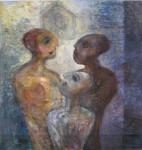 """""""sammen"""" Akrylmaleri 110x120 cm"""