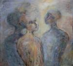 """""""å romme en regnbue"""" Akrylmaleri 120x110 cm"""