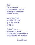 OSS (dikt av grete marstein)